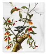 Audubon: Woodpecker, 1827 Fleece Blanket