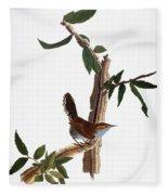 Audubon: Wren, (1827-38) Fleece Blanket