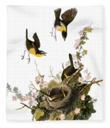 Audubon: Yellow Chat, (1827-38) Fleece Blanket