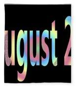 August 23 Fleece Blanket