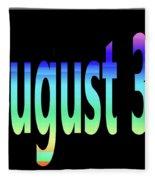 August 30 Fleece Blanket