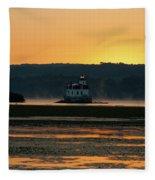 August Dawn At Esopus Light II Fleece Blanket