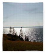 August Evening At Yellowstone Lake Fleece Blanket