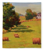 August Hay Field Fleece Blanket