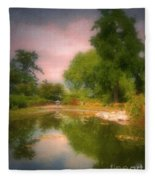 August In The Gardens Fleece Blanket