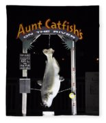 Aunt Catfish Fleece Blanket