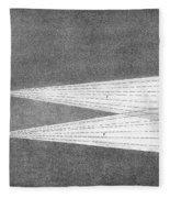 Aurora Borealis Explanation, 19th Fleece Blanket