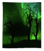 Aurora Borealis Lights - Painting Fleece Blanket