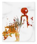 Aurora Orange Fleece Blanket