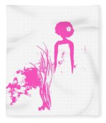 Aurora Pink Fleece Blanket
