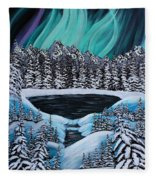 Aurora's Fiery Display Fleece Blanket