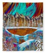 Aurora's Reflections Fleece Blanket