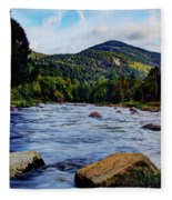 Ausable And Whiteface Fleece Blanket