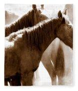 Wild Horses - Australian Brumbies 3 Fleece Blanket