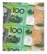 Aussie Dollars 09 Fleece Blanket