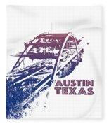 Austin 360 Bridge, Texas Fleece Blanket
