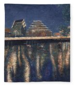 Austin At Night Fleece Blanket