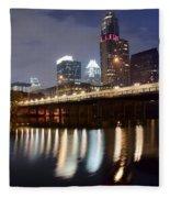 Austin From Below Fleece Blanket