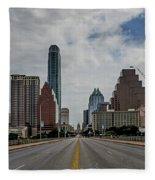 Austin From Congress Street Bridge Fleece Blanket