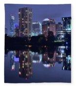 Austin In Lady Bird Lake Fleece Blanket
