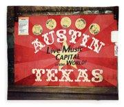 Austin Live Music Fleece Blanket