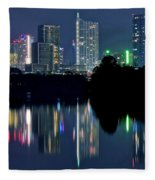 Austin Reflects In Ladybird Lake Fleece Blanket