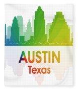 Austin Tx Fleece Blanket