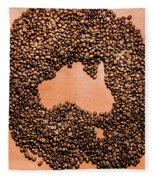 Australia Cafe Artwork Fleece Blanket