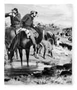 Australia: Cowboys, 1864 Fleece Blanket