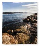 Australian Bay In Eastern Tasmania Fleece Blanket