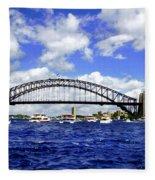 Australian Day Is A Party Day On Sydney Harbour  Fleece Blanket