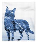 Australian Kelpie-blue Fleece Blanket
