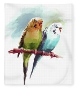 Australian Parrots 03 Fleece Blanket
