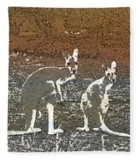 Australian Red Kangaroos Fleece Blanket