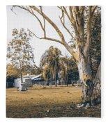 Australian Rural Countryside Landscape Fleece Blanket