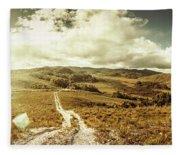 Australian Rural Panoramic Landscape Fleece Blanket