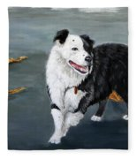 Australian Shepard Border Collie Fleece Blanket