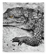 Australian Shy Crocodile  Fleece Blanket