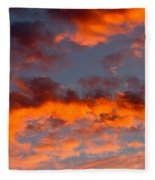 Australian Sunset Fleece Blanket