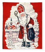 Austrian Christmas Card Fleece Blanket