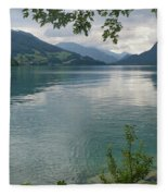 Austrian Lake Fleece Blanket