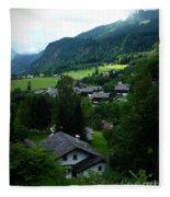 Austrian Landscape Fleece Blanket