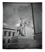 Authority Statue At The Courthouse In Memphis Tennessee Fleece Blanket