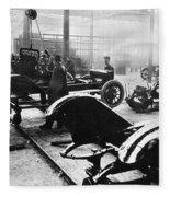 Automobile Manufacturing Fleece Blanket