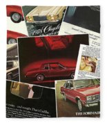 Automotive Ad's Collage 2 Fleece Blanket