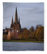 Autumn Lichfield Cathedral Fleece Blanket