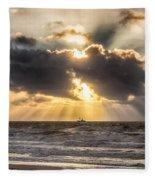 Autum Storm 001 Fleece Blanket