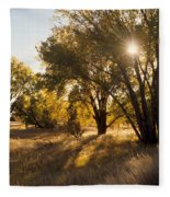 Autum Sunburst Fleece Blanket