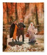 Autumn - People - A Walk In The Countryside Fleece Blanket
