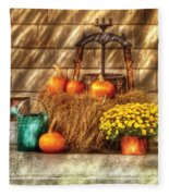 Autumn - Pumpkin - A Still Life With Pumpkins Fleece Blanket